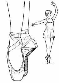 Worksheet. Resultado de imagen para zapatillas de ballet dibujo  bailarinas