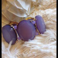 Purple Gem Boutique Bracelet Classic purple gem stretch bracelet. New! Cru Collection Jewelry Bracelets
