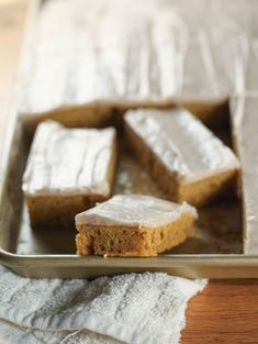 Pumpkin Sour Cream Bars with Cinnamon Frosting