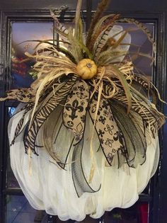 Most up-to-date Photographs Fall Pumpkin Wreath Harvest Pumpkin WreathAutumn Pumpkin Fall Halloween, Halloween Crafts, Halloween Decorations, Tennis Decorations, Thanksgiving Wreaths, Holiday Wreaths, Winter Wreaths, Spring Wreaths, Summer Wreath