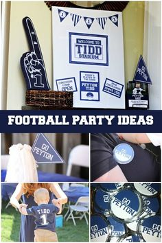 Football Themed First Birthday Party Decorations www.spaceshipsandlaserbeams.com