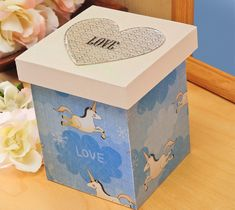 """Decoupage - """"What I Love About You"""" Box"""