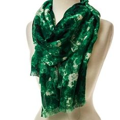 Get wrapped up in the luck o' the Irish with this watercolor scarf. It will be an elegant addition to your favorite spring outfit. #crackerbarrel http://shop.crackerbarrel.com/Green-Watercolor-Scarf/dp/B00RN93BT8