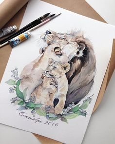 Beautiful Watercolor By _ Watercolor Art Diy, Watercolor Art Paintings, Watercolor Illustration, Painting & Drawing, Drawing Step, Watercolour, Baby Tattoos, Family Tattoos, Body Art Tattoos