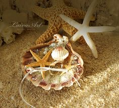 Seashell Ring Holder / Beach / Wedding / Ring Bearer Pillow / Shell /  Nautical Wedding / Beach Wedding - pinned by pin4etsy.com