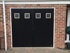 Our ultra modern side hinged garage doors can also be automated ...