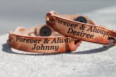 Single Custom Forever Braided Bracelet - Six Shooter Gifts Leather Engraving, Custom Engraving, Custom Leather Bracelets, Braided Bracelets, Wrap Bracelets, Engraved Bracelet, Leather Working, Friends In Love, Unique Jewelry
