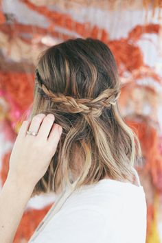 Half Up Braided Crown. #hair #styling #ideas