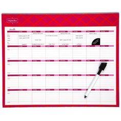 New Pink Mead Organizer Write N Wipe Monthly Undated Dry Erase Calendar 15 x 12 | eBay