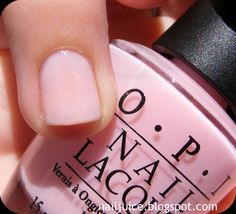 "OPI - ""It's a girl""- I love this color! Perfect for me because i'm always chipping my nail polish off!"