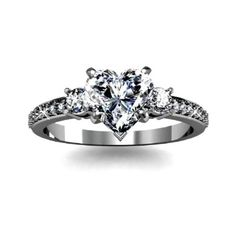 Collection featuring Tiffany & Co. Rings, Allurez Rings, and 10 other items Heart Shaped Diamond Ring, Heart Shaped Engagement Rings, Heart Wedding Rings, Unusual Engagement Rings, Gold Heart Ring, Heart Shaped Rings, Dream Engagement Rings, Diamond Wedding Rings, Wedding Engagement