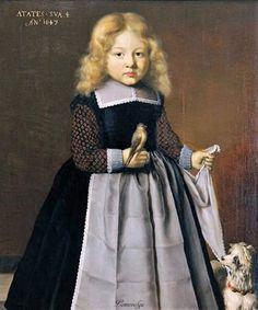 Wybrand de Geest, Boy with a dog, 1647