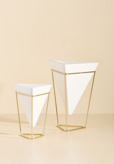 Exemplary Contemporary Tabletop Vase Set - White, Gold, Solid, Dorm Decor, Luxe, Statement, Spring, Summer, Fall, Winter, Gals, Luxe Gifts, Unisex Gifts, Under 50 Gifts