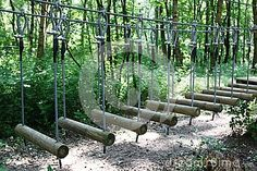 Obstacle course adventure park