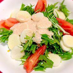 ありがとうございます。(≧∇≦) - 22件のもぐもぐ - 山芋水菜サラダ by hirorie103