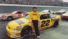 """Rob Moroso poses alongside his car prior to the 1989 Peak Performance 500 at Dover, the third race of his career. Nascar Race Cars, Old Race Cars, Terry Labonte, Olympic Games Sports, Richard Petty, Dale Earnhardt Jr, European Football, Auto Racing, Car Photos"