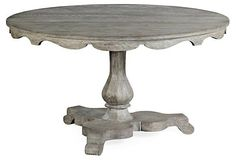 "Overbury 54"" Round Dining Table, Gray 