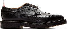 Thom Browne - Black Pebbled Leather Longwing Brogues