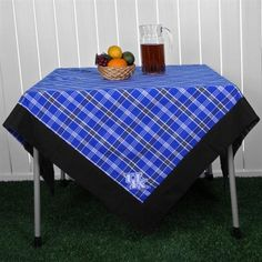55'' x 55'' Plaid Tablecloth -- Great for Tailgates!