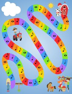 Farming in Note Land by The Imaginative Music Studio Elementary Music Lessons, Music Lessons For Kids, Music For Kids, Preschool Music, Music Activities, Teaching Music, Music Theory Games, Music Games, Music Basics