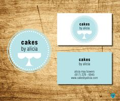 Logo design for my favorite cake baker. business cards, logo, tiffany blue.