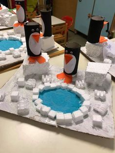 Pinecone Crafts Kids, Pine Cone Crafts, Adopt A Penguin, Snowmen At Night, Diy And Crafts, Crafts For Kids, Box Container, Winter Activities, I School