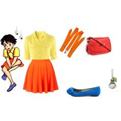 Satsuki Kusakabe from My Neighbour Totoro Casual Cosplay, created by cupcake-curiosities on Polyvore - COSPLAY IS BAEEE!!! Tap the pin now to grab yourself some BAE Cosplay leggings and shirts! From super hero fitness leggings, super hero fitness shirts, and so much more that wil make you say YASSS!!!