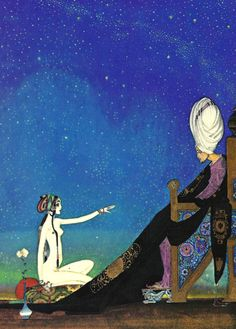 "Kay Nielsen is among the greatest artists associated with what is known as ""The Golden Age of Illustration"" and his works are associated with classic fairy tales, in addition to myths and fables. Kay Nielsen, Art Nouveau, Art Deco, Vintage Illustration Art, Botanical Illustration, Chinese Drawings, Fairytale Art, Arabian Nights, Illustrations And Posters"