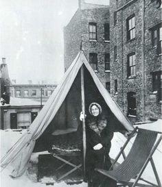 """Fighting Tuberculosis on the Roof""  Jacob Riis, New York, around 1900"