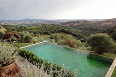 Vicarello Italy, pool and landscape