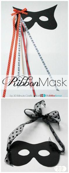 Easy Ribbon Mask Tutorial - The Ribbon Retreat Blog