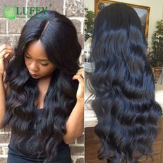 Luffy Hair 4x4 Silk Top Full Lace Human Hair Wigs With Baby Hair Body Wave Virgin Brazilian Silk Base Lace Front Human Hair Wigs Email: flowerseason@luffywig.com