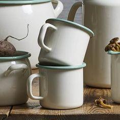 Mok Emaille, Crème - Kockums Tableware, Enamel, Dinnerware, Tablewares, Dishes, Place Settings