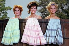 """retropopcult: """"Linda Henning, Gunilla Hutton, and Lori Saunders in Petticoat Junction """" Gunilla Hutton, Lori Saunders, Film Quiz, 1960s Tv Shows, Petticoat Junction, Mary Tyler Moore Show, Old Shows, Vintage Tv, Classic Tv"""