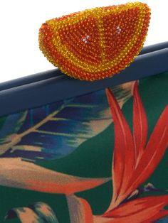 Classic orange-clasp satin clutch | Sarah's Bag | MATCHESFASHION.COM