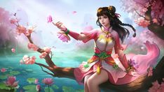 Ultra HD Wallpaper - Guinevere, Lotus, Skin, Mobile Legends, for Desk. - Best of Wallpapers for Andriod and ios Lotus Wallpaper, Hero Wallpaper, Dance Wallpaper, Wallpaper Quotes, Bang Bang, Miya Mobile Legends, Alucard Mobile Legends, Moba Legends, The Legend Of Heroes