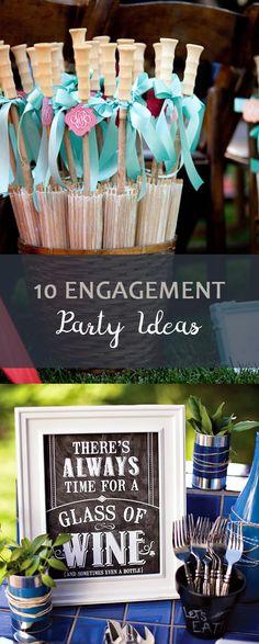 Engagement Party, Engagement Party Ideas, Party Ideas, Wedding Party, Wedding Party Ideas, Cool Engagement Party Ideas, Weddings, Engagements