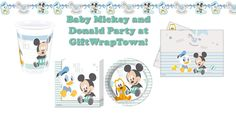 BABY MICKEY MOUSE DONALD DUCK PLUTO PARTY SUPPLIES!  CHRISTENING 1ST BIRTHDAY