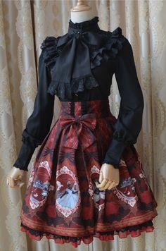 --> Newly Added: ❤♡~Living In A Fairytale World~♡❤ Lolita JSK and Skirt --> In stock (✈fast ship✈) >>> http://www.my-lolita-dress.com/sweet-alice-printedc-chiffon-lolita-jumper-dress-gbyl-4