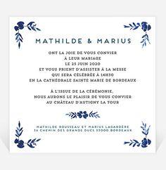 Dos du faire-part Marie, Bullet Journal, Watercolor Wedding, Floral Theme, Elegant Wedding, Romantic