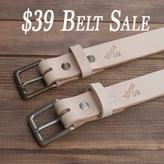 $39 belt sale now through Tuesday. Also pick up a mouse pad for only $15