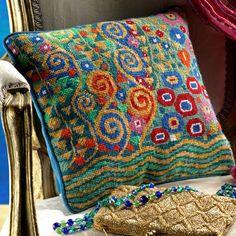 Klimts: Jade by Candace Bahouth; Ehrman wools, http://www.ehrmantapestry.com/Products/Klimt--Jade__GKL.aspx#.UUOawFeZFLo
