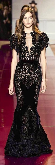 A classic black lace dress will always be in style!
