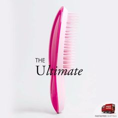 Tangle Teezer The Ultimate The Profressional Finishing Hairbrush For Smoothing and Shine  แปรงหวีผมเรียบตรง หวีผมฟูได้ตรงเรียบไว ช่วยให้ผมไม่พันกัน ลดไฟฟ้าสถิต จับง่ายถนัดมือและยังช่วยนวดหนังศรีษะ (สีชมพู/Pink) BOX4699   Lazada.co.th