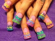 Easter eggs - Nail Art Gallery    Hahahahaha Naomi!!! Look at these!!!