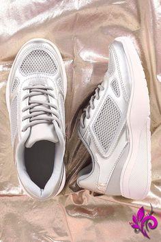Qupid Mesh Trim Round Toe Lace-Up Sneaker 029ed523cb98