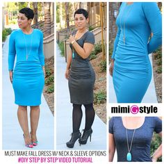 My favorite dress tutorial!! I make this dress all year round and wear them often. I love this dress because it is so easy to dress up or down and you can make it with short or long sleeves (as shown in the tutorial) The other really fantastic thing about this dress is the gathering at the lower waist/hip area, it is flattering and concealing at the same time!LEVEL: Beginner/IntermediateSIZES: My tutorials are made to your measurements by drafting and creating the pattern (s...
