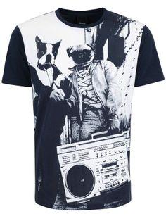 T-shirt Homme Bench Streetwear modèle Streetdogs couleur bleu marine.