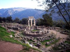 Delphi - The oracle of the great God, Apollo, worked its magic up here on mount Parnassus #travel #culture #mythology