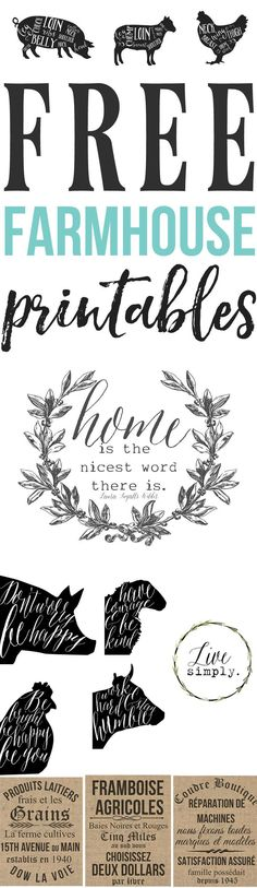 French Farmhouse Printables Wall Decor – Hallstrom Home Need to spice up plain walls? That is why we created this French Farmhouse Printables W.
